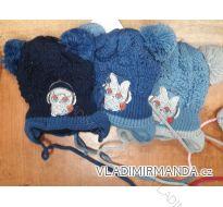 Čepice s dvěma bambulkama zimní dětská chlapecká (1-5 let) POLSKO PV918021