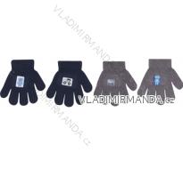 Rukavice pletené dětské dorost chlapecké (12-14-16cm) YOCLUB POLSKO R-212