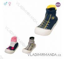 Ponožky s gumovou podrážkou kojenecké dívčí a chlapecké fleece (20-23) YO! OB-009
