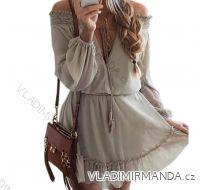Šaty dlouhý rukáv dámská (uni s-l) ITALSKá MóDA IM2182836