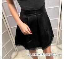 Sukně koženková dámská s krajkou (s-m-l) ITALSKá MóDA IM919020