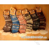 Ponožky zateplené bavlnou protiskluzové dámské (35-42) AMZF PB603