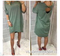 Šaty 3/4 krátký rukáv oversize dámské (uni xl-3xl) DIMLI IMT18680
