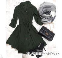 Šaty košilové  dlouhý rukáv dámské (uni s-l) ITALSKá MóDA IMT181017