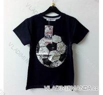 Tričko krátký rukáv s flitry dětské dorost dívčí (6-10 let) TURECKá MODA TV418071
