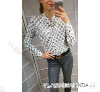 Košile halenka dlouhý rukáv dámské (uni s-l) ITALSKÁ MÓDA IMT19032