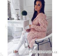 Cardigan pletený svetr  dlouhý rukáv dámský (uni s/m/l) ITALSKá MODA IMC172658