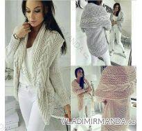Cardigan pletený svetr teplý dámský (uni s-l) ITALSKá MODA IMC18204