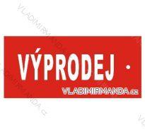 Banner VÝPRODEJ, 5KS/BALENÍ UNI V7323b