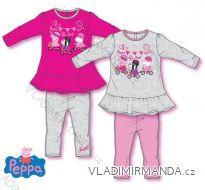 Souprava tričko dlouhý rukáv a kalhoty peppa pig kojenecké dívčí (12-30 měsíců) SUN CITY NH5016