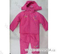 Souprava zimní kojenecká a dětská dívčí podšívka kožíšek (2-5let) KEYIQI XT909