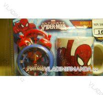 Budík + hrnek spiderman dětský MV10044