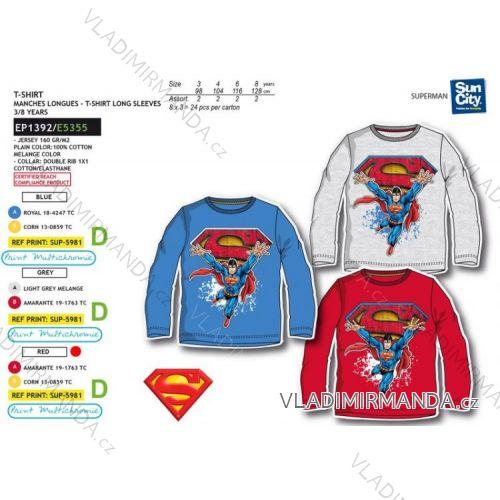 c20a51ff9a7 Tričko dlouhý rukáv superman dětské chlapecké (3-8 let) SUN CITY EP1392
