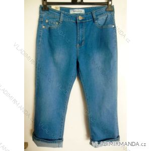 Kalhoty 3 4 dámské riflové (38-48) SMILING JEANS W285 94bf1763b8