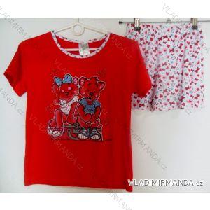 Pyžamo krátké dorost dívčí (128-164) IRISH FLOWER 35-291