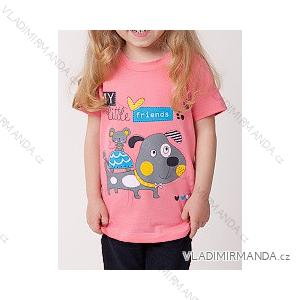 Tričko krátký rukáv dětské dívčí (100-130) CALVI-COONOOR 16-117