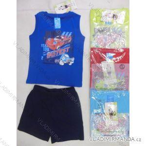 Pyžamo bez  rukávů krátké nohavice dětské chlapecké bavlněné (98-134) FORTOO 73085