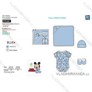 Set body krátký rukáv, čepička, botičky, přikrývka mickey mouse kojenecké chlapecké (0-6 měsíců) SUN CITY  EP0408