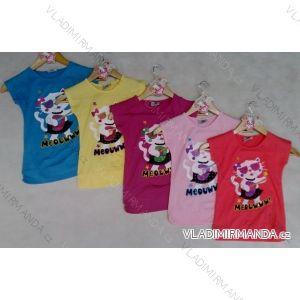 Tričko krátký rukáv dětské dívčí kočka (98-134) ARTENA 91018