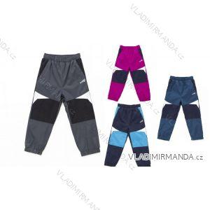 Kalhoty šusťákové s flaušovou podšívkou kojenecké dívčí a chlapecké (80-92) WOLF B2673