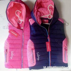 Vesta šusťáková zateplená kožíškem dětská dorost dívčí (8-16 let) EGRET G-60541