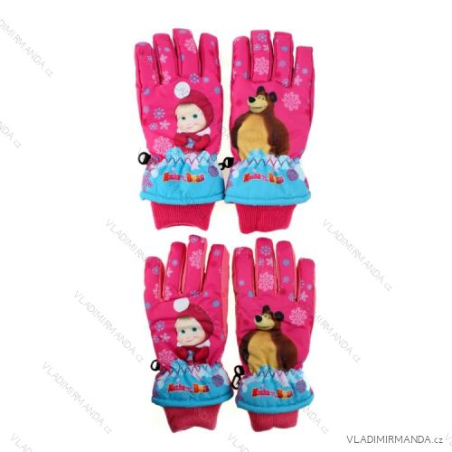 dc9055e3582 Rukavice lyžařské masha and bear máš a medvě prstové dětské dívčí (3-6 let