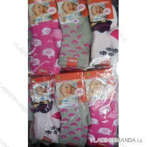 Ponožky teplé thermo kojenecké dívčí (0-36 měsíců) LOOKEN ZTY-6709ABS