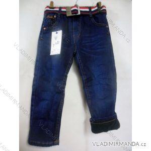 Rifle jeans teplé flaušová podšívka kojenecké a dětské chlapecké (74-104) FAD F156