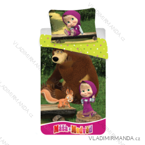 Povlečení masha and bear máša a medvěd dětské dívíčí (140*200) JF MASAMEDVED01