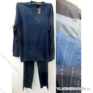 Pyžamo dlouhé teplé pánské (m-3xl) HAF W-044C