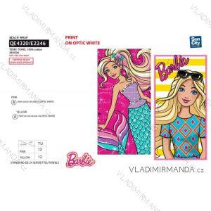 Osuška plážová barbie dětská dívčí bavlněná (70*140) SUN CITY QE4320