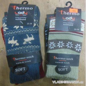 Ponožky teplé thermo extra měkký lem dámské (35-42) VIRGINA HD-913