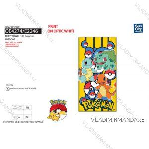 Osuška plážová pokemon dětská chlapecká bavlněná (70*140) SUN CITY QE4274