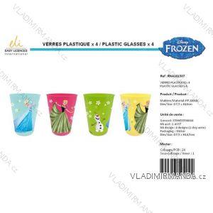 Hrneček kelímek  plastový frozen dětský dívčí (4 ks) SUN CITY RNA101507
