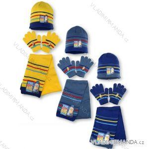 558c44a9095bf Set čiapka rukavice a šál detské chlapčenské Mimoni (univerzálny) SETINO  780-182