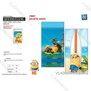 Osuška plážová mimoni dětská chlapecká bavlněná (70*140 cm) SUN CITY QE4306
