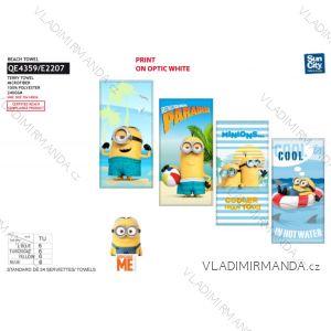 Osuška plážová mimoni dětská chlapecká (70*140 cm) SUN CITY QE4359