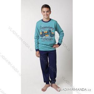 Pyžamo dlouhé dorostenecké chlapecké bavlněné (150-170) CALVI 16-557