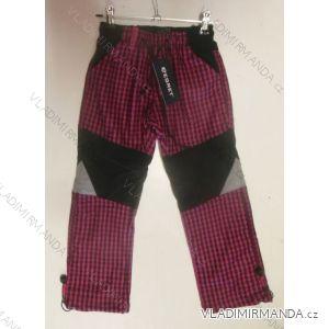 Kalhoty outdoor teplé flaušová podšívka dětské dívčí (86-116) EGRET B-60396