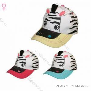 Kšiltovka zebra kojenecká dětská dívčí (48-52) YO! CZD-172