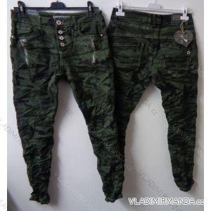 Rifle kalhoty slabé dámské maskáč (xs-xl) NEWPLAY F6111