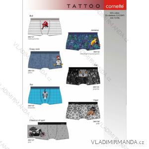 Boxerky pánské tattoo (s-2xl) CORNETTE TATTOO-280