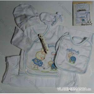 Komplet (5 ks) kojenecký dívčí a chlapecký (0-6 měsíců) TURECKá VýROBA 502 K