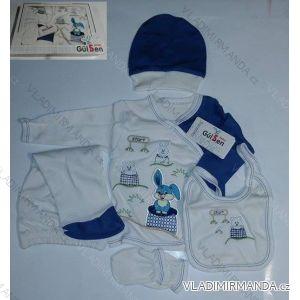 Komplet (5 ks) kojenecký dívčí a chlapecký (0-6 měsíců) TURECKá VýROBA 204