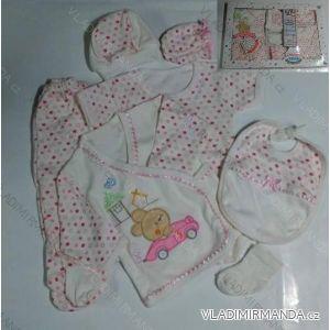 Komplet (7 ks) kojenecký dívčí a chlapecký (0-6 měsíců) TURECKá VýROBA 3130 K
