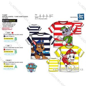 Tričko krátký rukáv paw patrol dětské chlapecké bavlněné (3-6 let) SUN CITY QE1497