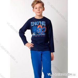 Pyžamo dlouhé dorostenecké chlapecké bavlněné (140-160) CALVI-COONOOR 17-352