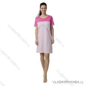 Maxi košile noční krátký rukáv dámská (xl-3xl) CALVI-COONOOR 17-316