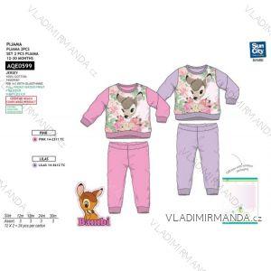 Pyžamo dlouhé bambi kojenecké dětské dívčí bavlněné (12-30 měsíců) AQE0599