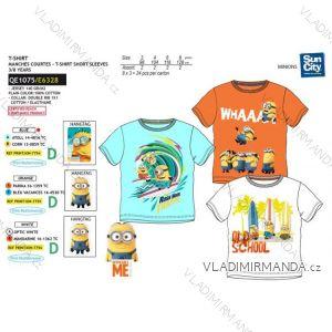 Tričko krátký rukáv mimoni dětské chlapecké bavlněné  (3-8 let) SUN CITY QE1075